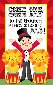 CIRCUS - Classroom Decor: MEDIUM BANNER, Come One, Come All - Sunday School