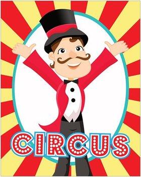 CIRCUS - Classroom Decor: POSTER - 16 x 20, Circus Master