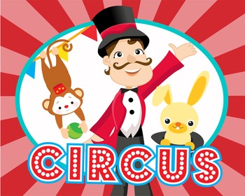 CIRCUS - Classroom Decor: POSTER - 16 x 20, Circus Master and Friends