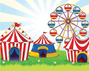 CIRCUS - Classroom Decor: POSTER - 16 x 20, Circus tents