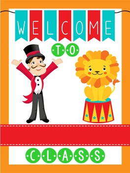 CIRCUS - Classroom Decor: WELCOME Poster - 18 x 24, you personalize, Design A