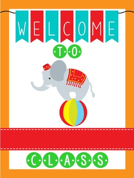 CIRCUS - Classroom Decor: WELCOME Poster - 18 x 24, you personalize, Design B