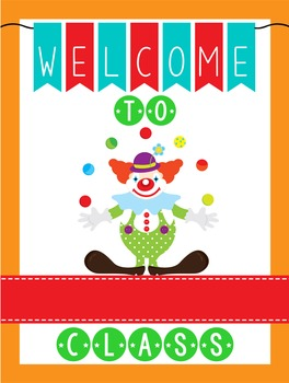 CIRCUS - Classroom Decor: WELCOME Poster - 18 x 24, you personalize, Design C