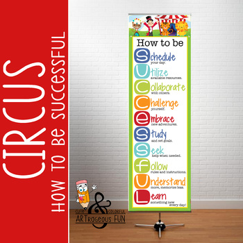 CIRCUS - Classroom Decor: XLARGE BANNER, How to be Successful