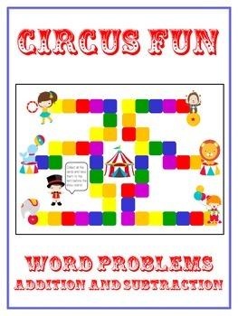 CIRCUS FUN - Word Problems Adding & Subtracting - Math Fol