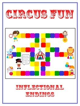 CIRCUS Inflectional Word Endings - ELA First Grade Game - Word Work Center