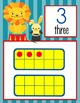 CIRCUS - Number Line Banner, 0 to 20, Illustrated, Base Ten Frames