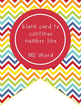 CIRCUS - Number Line Banner, 1 to 25, EDITABLE to continue