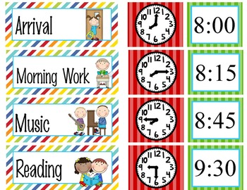 CIRCUS - Schedule Cards / editable MS WORD / Illustrated
