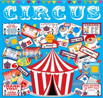 CIRCUS TEACHING RESOURCES ROLE PLAY DISPLAY EYFS KS1-2 ENGLISH MATHS
