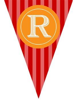 CIRCUS theme - Classroom Decor - Triangle Banners, CREATE a BANNER