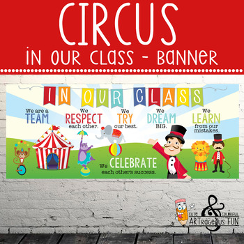CIRCUS theme - Classroom Decor: LARGE BANNER,  In Our Class