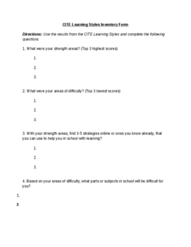 image relating to Learning Style Inventory Printable called Finding out Designs Stock Worksheets Training Materials TpT
