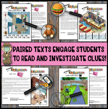 Inference Mystery- Analyze Multiple Texts- Eight Picture Mysteries With Texts #2