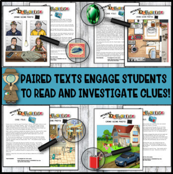 Inference Mystery- Analyze Multiple Texts- Eight Picture Mysteries With Texts #1