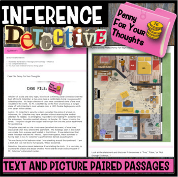 Inference Mystery-Analyze Two Texts to Cite and Support (Footsteps in the Dark)