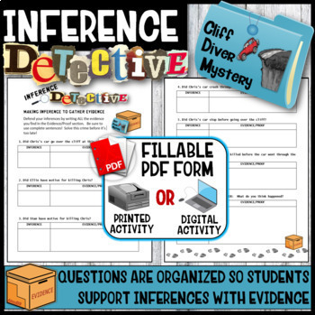 Making Inferences -Analyze Multiple Texts  (Cliff Diver Mystery)