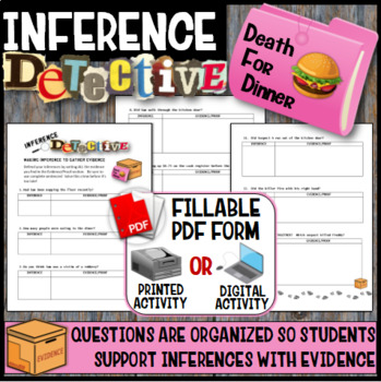 Inference Mystery-Analyze Multiple Texts to Cite and Support (The Lunchroom)