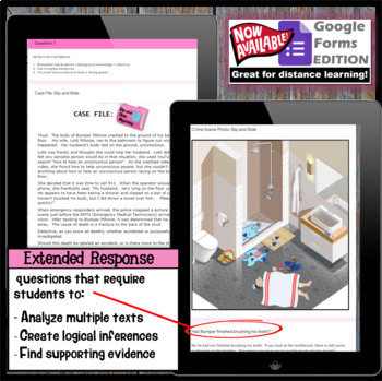 Inference Mystery-Multiple Texts to Cite and Support (Tragedy in the Bathroom)