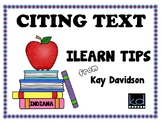 CITING TEXT:  ILEARN Tips from Kay Davidson