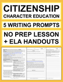 CITIZENSHIP Activities: 5 Writing Prompts