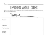 CITY PreWrite Chart for Expository Writing - For Library Research or Web Quest