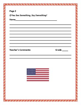 CIVICS/ CHARACTER EDUCATION WRITING PROMPT: IF YOU SEE SOMETHING, SAY SOMETHING!