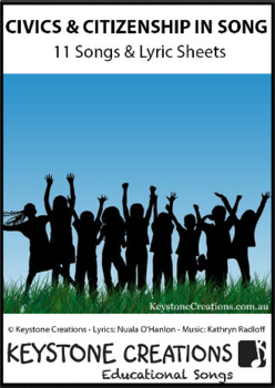 11 Curriculum-aligned MP3 songs targeting character education/citizenship