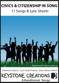 11 Curriculum-Aligned song MP3s ~ READ, SING & LEARN about Civics & Citizenship