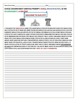 CIVICS CONTEST: HOW TO BEAUTIFY YOUR CITY