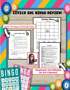 CIVICS EOC Review Bingo