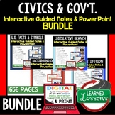 CIVICS Guided Notes and PowerPoints BUNDLE, Digital Distan