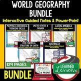 WORLD GEOGRAPHY Notes and PowerPoints BUNDLE, PRINT & DIGI