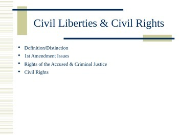 CIVIL LIBERTIES AND THE BILL OF RIGHTS