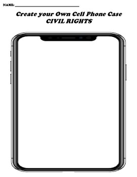 CIVIL RIGHTS CREATE YOUR OWN CELL PHONE COVER