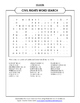 CIVIL RIGHTS WORD SEARCH FOR MARTIN LUTHER KING DAY AND BLACK HISTORY MONTH