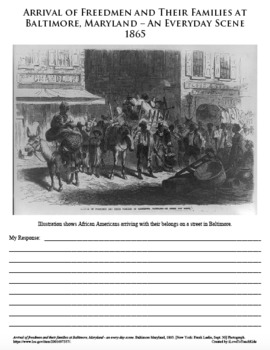 CIVIL WAR African American Black History PRIMARY SOURCE ACTIVITY