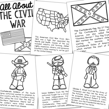 Civil War Posters Coloring Book Pages American History Project