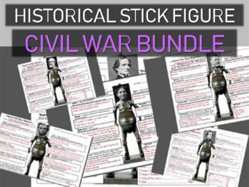 CIVIL WAR Historical Stick Figures (Mini-biography) 5-PACK