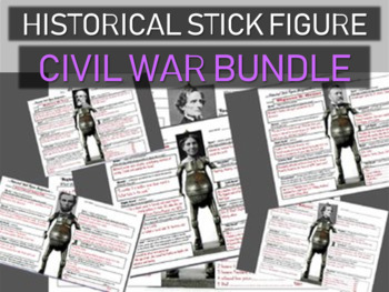 CIVIL WAR Historical Stick Figures (Mini-biography) 5-PACK