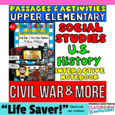 CIVIL WAR & More: 4th-5th Grade Social Studies INTERACTIVE NOTEBOOK: US History