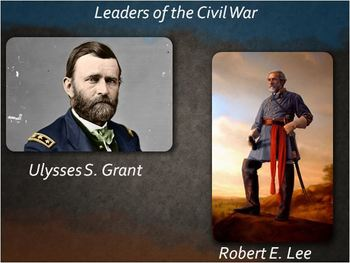 CIVIL WAR PPT Lesson 4:Civil War Leaders-Robert E Lee, Ulysses S. Grant, Lincoln