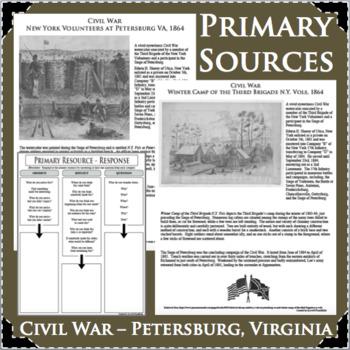CIVIL WAR Petersburg Virginia PRIMARY SOURCES ACTIVITY for History