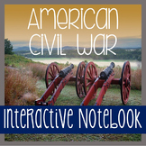 Interactive Notebook - CIVIL WAR - Social Studies -  with Passages!