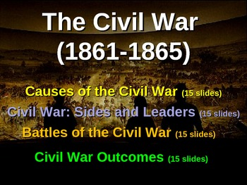 CIVIL WAR - ULTIMATE BUNDLE (20 PPTs, activities, primary sources & more)