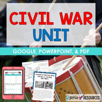 CIVIL WAR UNIT with Informational Text and Activities PLUS a Student Version!