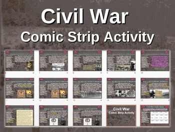 CIVIL WAR comic strip activity! fun-engaging-interactive