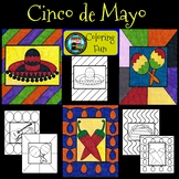 Cinco de Mayo Celebration of Mexican Heritage Coloring Pages Pop Art Inspired