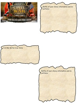 CIvil War Scrapbook Bundle