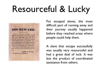 Civil War - The Underground Railroad PowerPoint